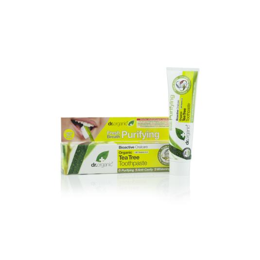dr. organic árbol del té pasta dental 100ml