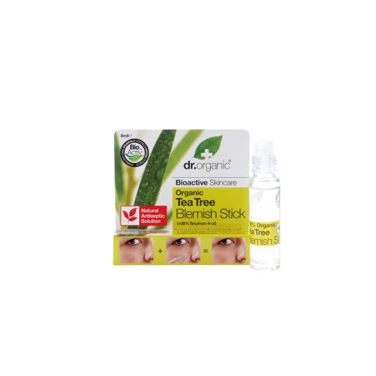 dr. organic árbol del té anti acne en barra