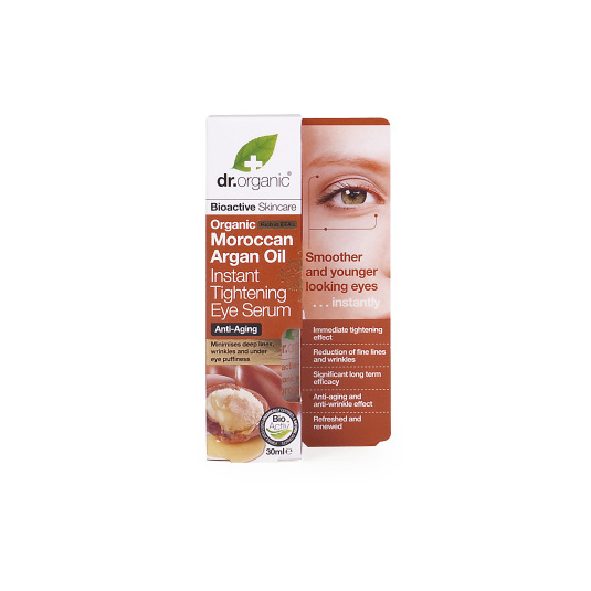 dr. organic aceite puro de argán marroquí serum controno de ojos 30ml