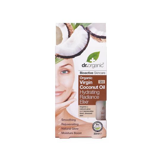 dr. organic aceite coco virgen elixir hidratante 30ml