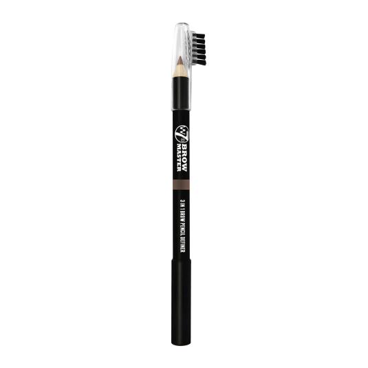 w7 brow master lápiz de cejas 3en1 cera+cepillo