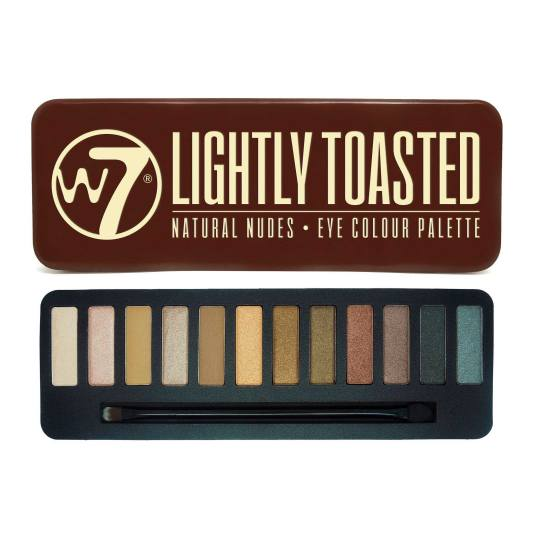 W7 LIGHTLY TOASTED PALETA DE SOMBRAS DE OJOS