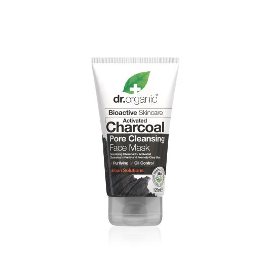 dr. organic carbon activado mascarilla limpieza poros 125ml