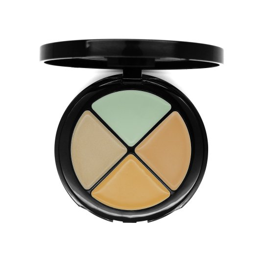 w7 hide 'n' seek - anti-redness green concealer quad paleta de correctores