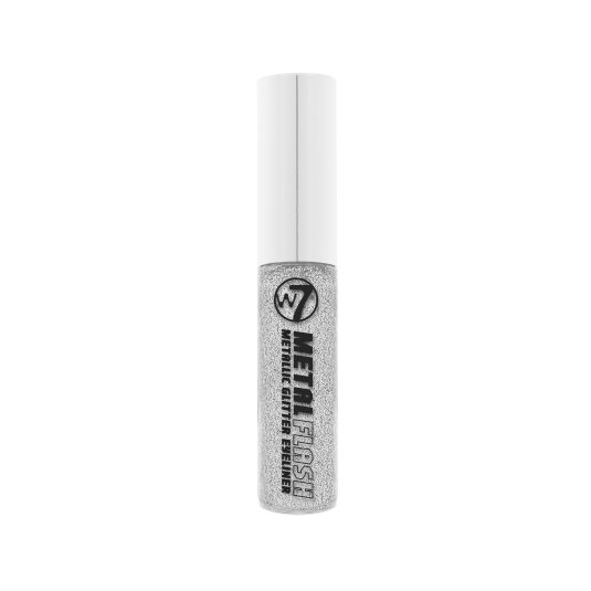 W7 METAL FLASH GLITTER EYELINER PURPURINA LÍQUIDO
