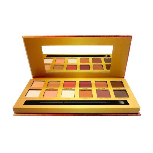 w7 life's a peach face and cheek paleta de coloretes 12 5 tonos