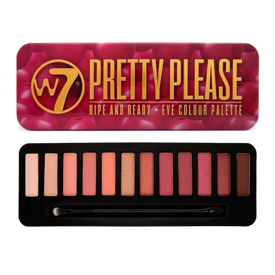 W7 PRETTY PLEASE PALETA DE SOMBRAS DE OJOS
