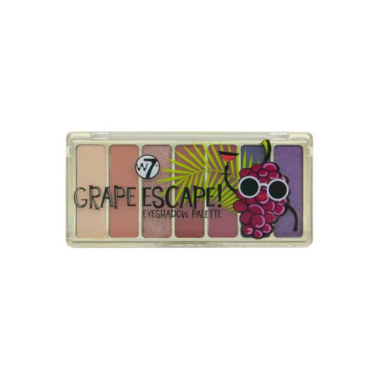 w7 grape escape! paleta de sombra de ojos tonos color uva