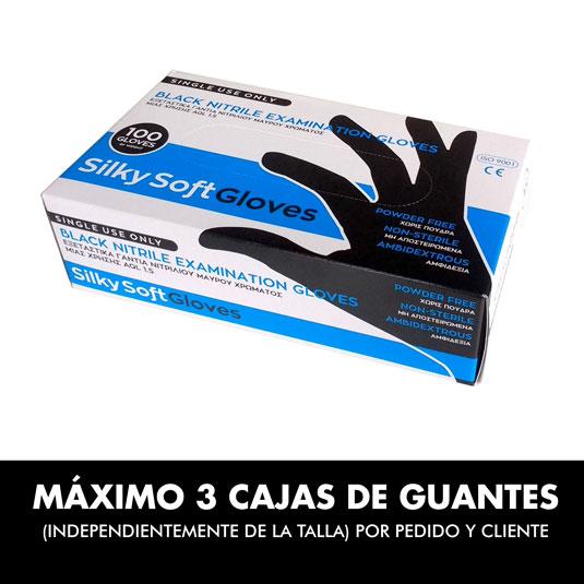 guantes de nitrilo negros XS 100ud