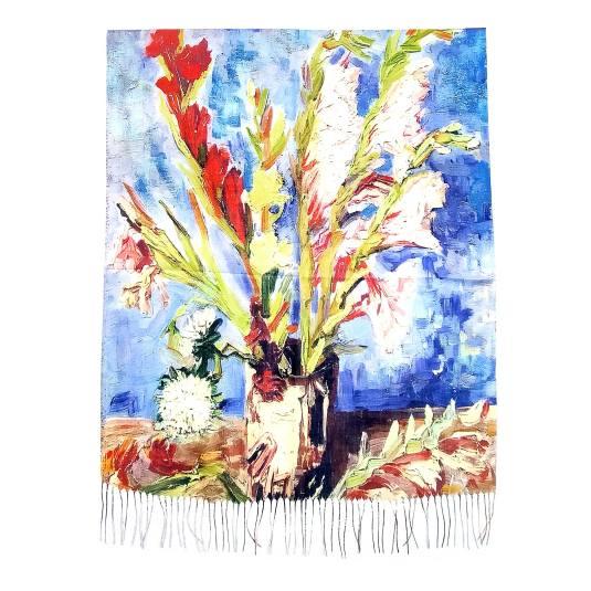 pañuelo / fular 2078 estampado multicolor arte bodegon floral