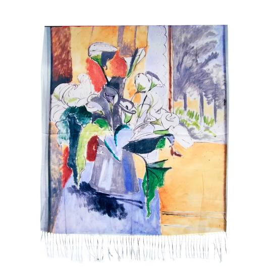 pañuelo / fular 2080 estampado multicolor arte bodegon floral