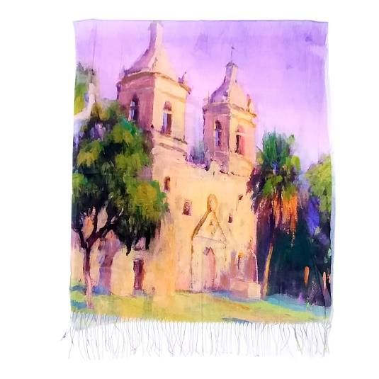 pañuelo / fular 2086 estampado multicolor paisaje pintado