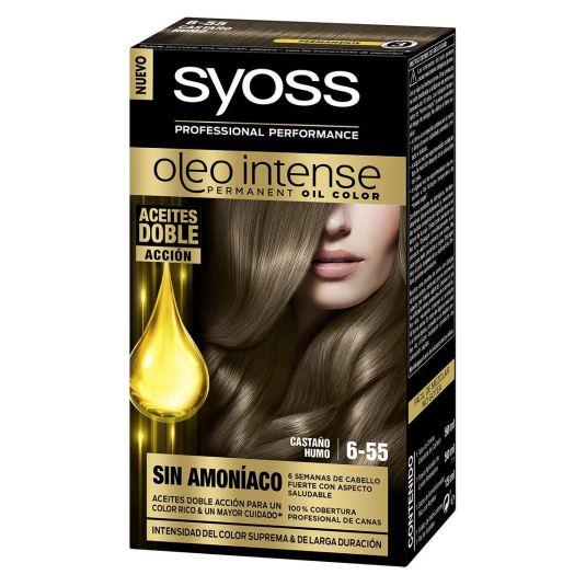 syoss oleo intense tinte permanente sin amoníaco 6-55 castaño humo