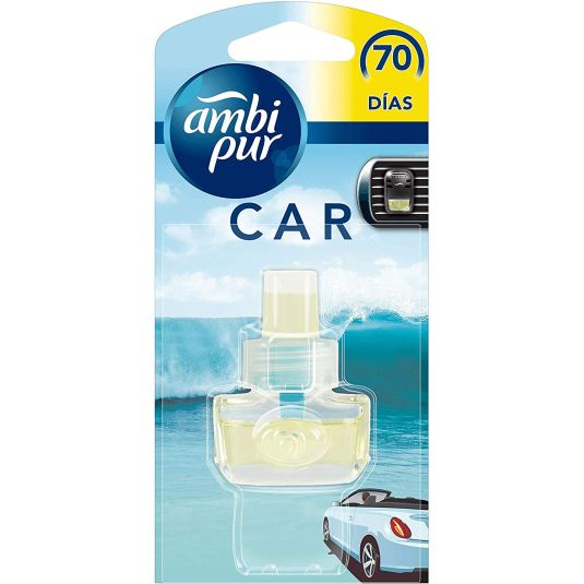 ambi pur car recambio ambientador fragancia torrente refrescante para coches 7ml