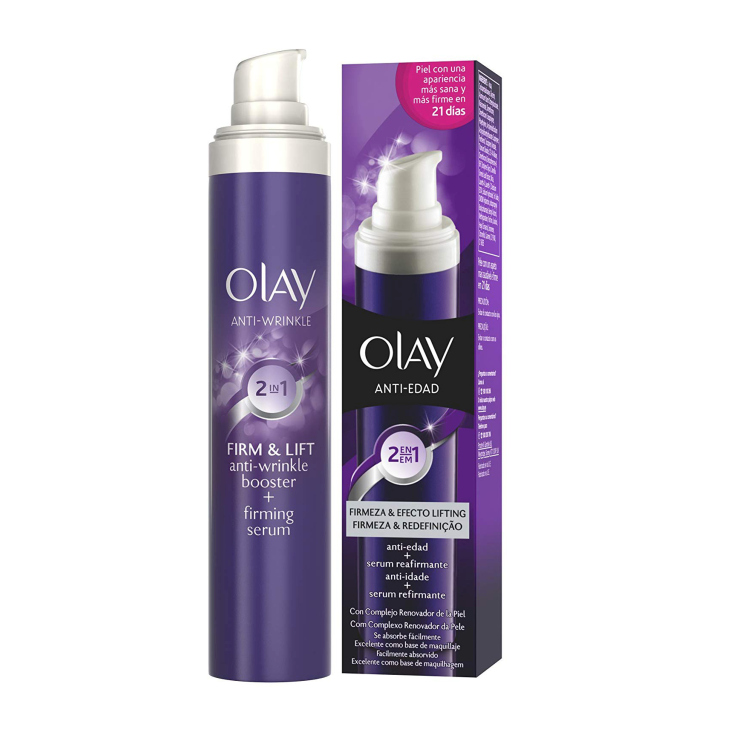 olay anti-edad firmeza & efecto lifting 2en1 serum+crema dia 50ml