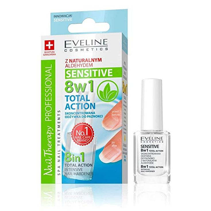 eveline nail therapy 8en1 sensitive tratamiento de uñas acondicionador uñas debiles 12ml