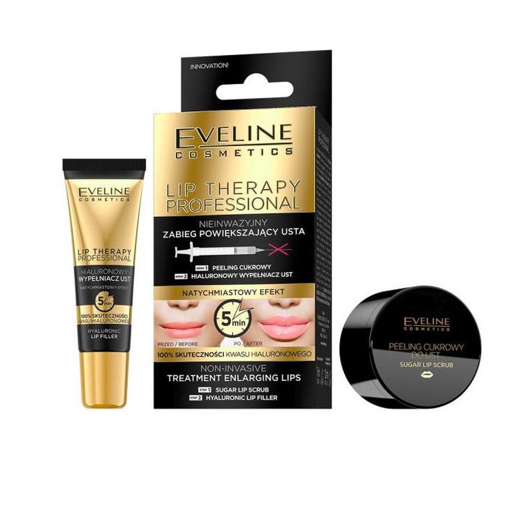 eveline cosmetics hyaluron lip push-up serum duo tratamiento labial voluminizador