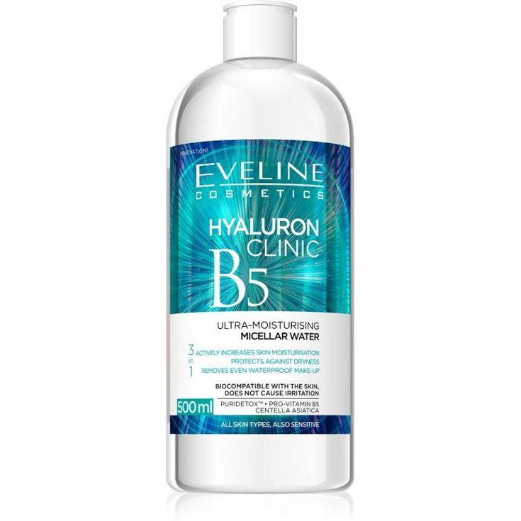 eveline hyaluron clinic b5 agua micelar 3en1 500 ml