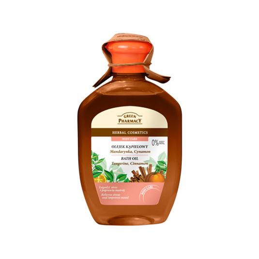 green pharmacy aceite de ducha mandarina y canela 250ml