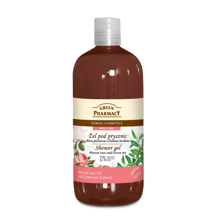 green pharmacy gel de ducha rosa mosqueta y te verde 500ml