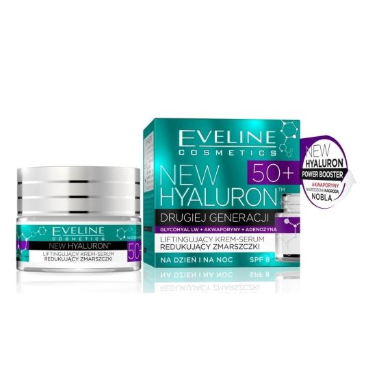 eveline cosmetics hyaluron expert 50+ crema concentrada antiedad piel más de 50 años 50ml