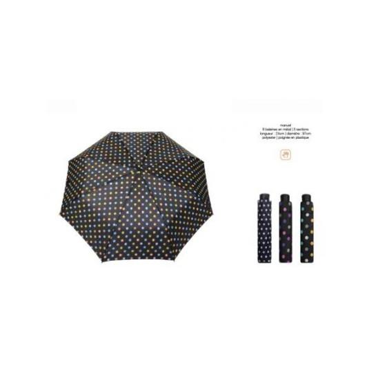 paraguas plegable con topos de bolsillo surtidos