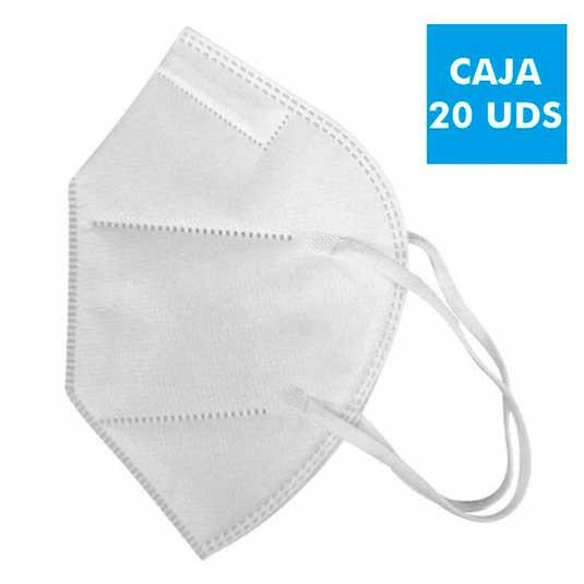 mascarillas ffp2 nr protectora desechable espuma nasal 20 unidades