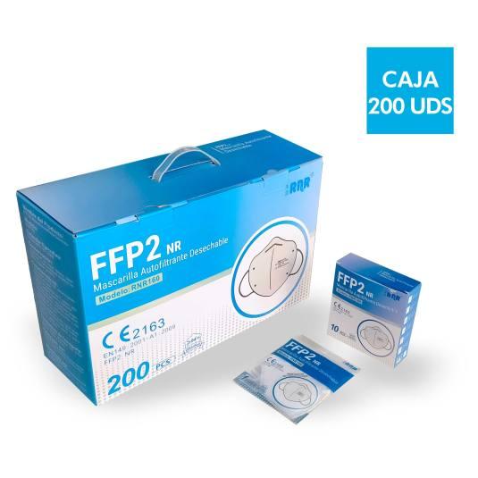 mascarilla ffp2 blanca espuma nasal maletin 200 unidades (0,75 euros unidad)