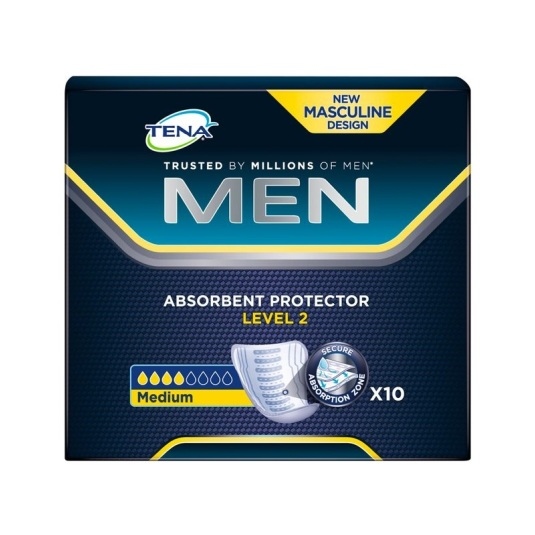 tena men discreet protege slips level 2 medium 10uds