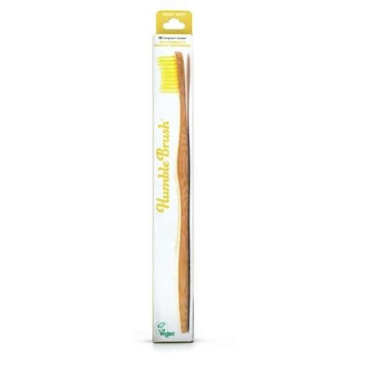 the humble cepillo dientes bambu amarillo adulto suave