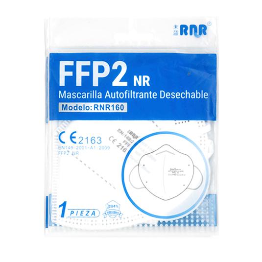 mascarilla protectora ffp2 blanca espuma nasal 1 unidad