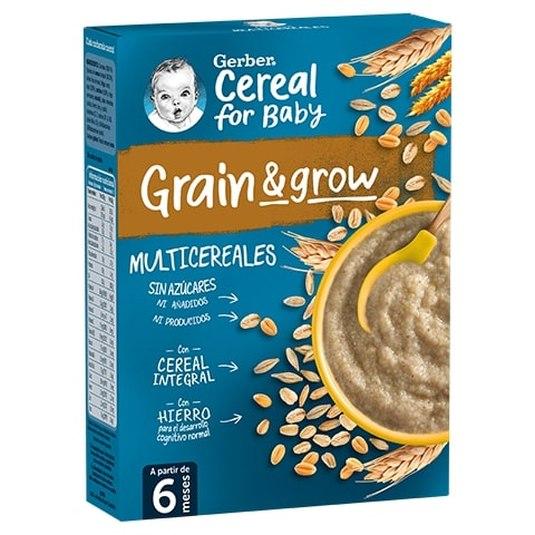 gerber papillas de cereales para bebes multicereales 250g