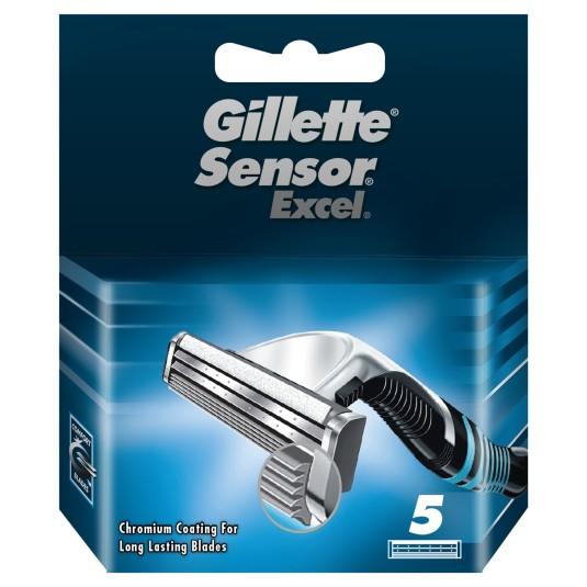 gillette sensor excel cuchillas maquinilla de afeitar hombre 5 recambios
