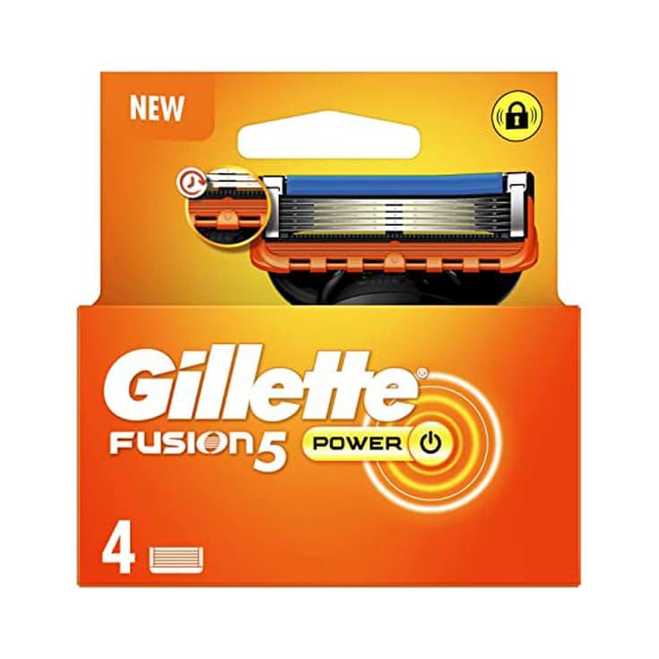 gillette fusion 5 power cuchillas de maquinilla de afeitar hombre 4 recambios