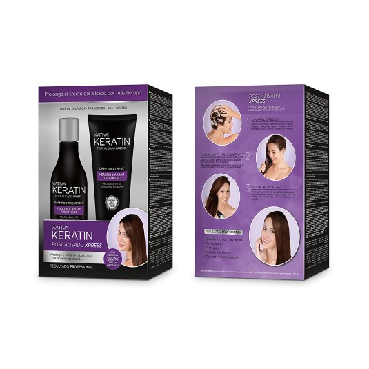 kativa keratin set post alisado xpress