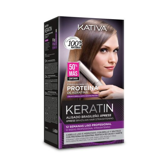 kativa keratin alisado brasileño express kit 150 ml