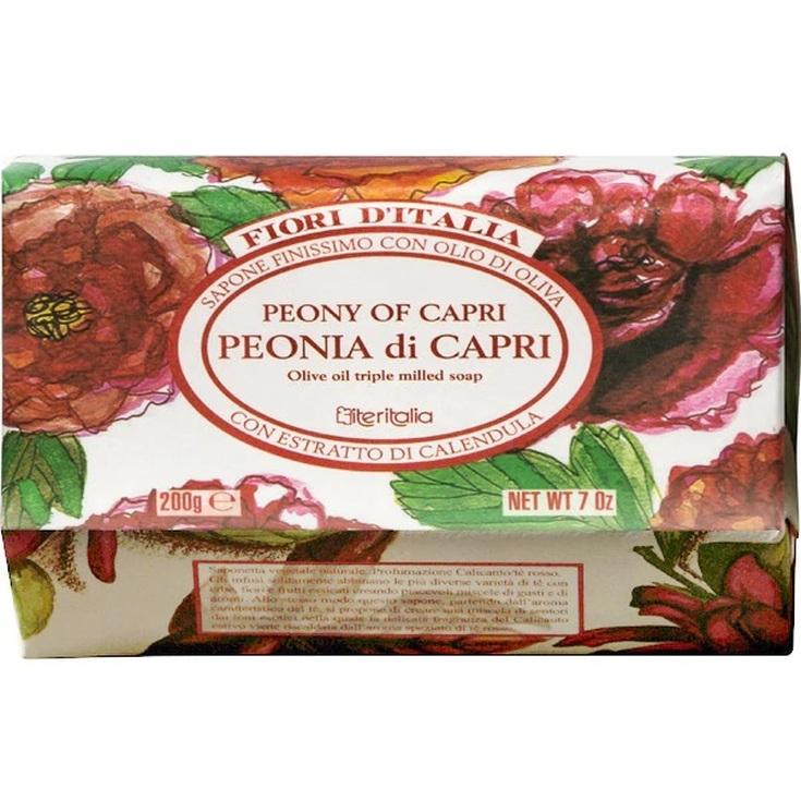 iteritalia fiori d'italia pastilla de jabon capri peonia 200g