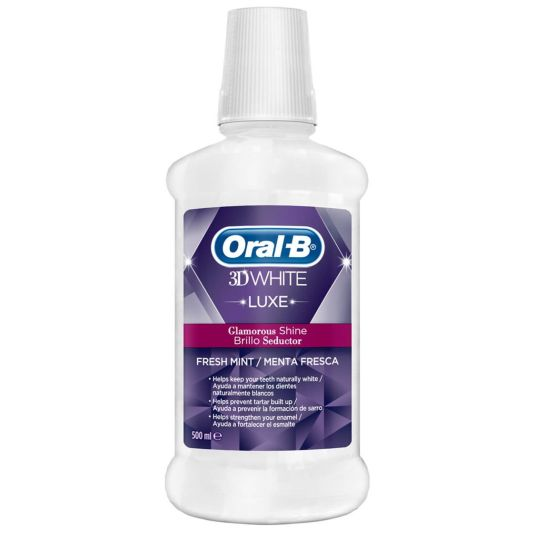 oral b colutorio 3d white luxe 500ml
