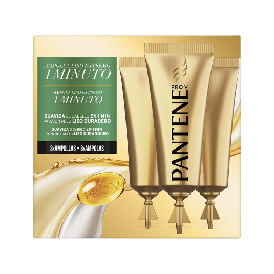pantene pro-v 1 minuto miracle ampollas liso extremo3 unidades