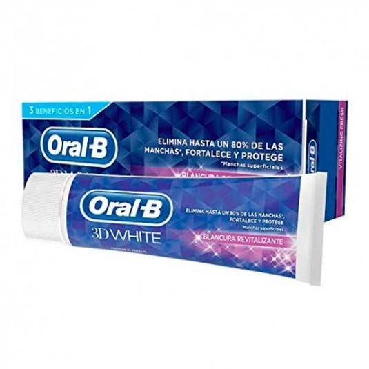 oral-b 3d white blancura revitalizante pasta de dientes75ml