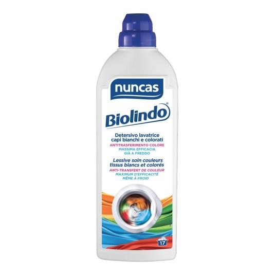 nuncas biolindo detergente lavadora prendas blancas y colores 17 dosis
