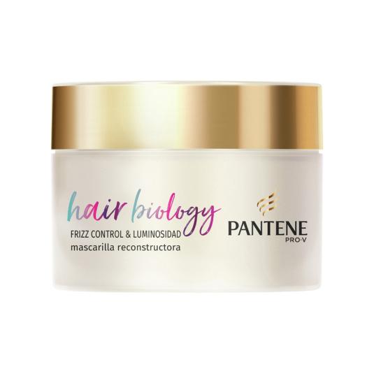 pantene pro-v hair biology frizz control & luminosidad mascarilla reconstructora 160ml