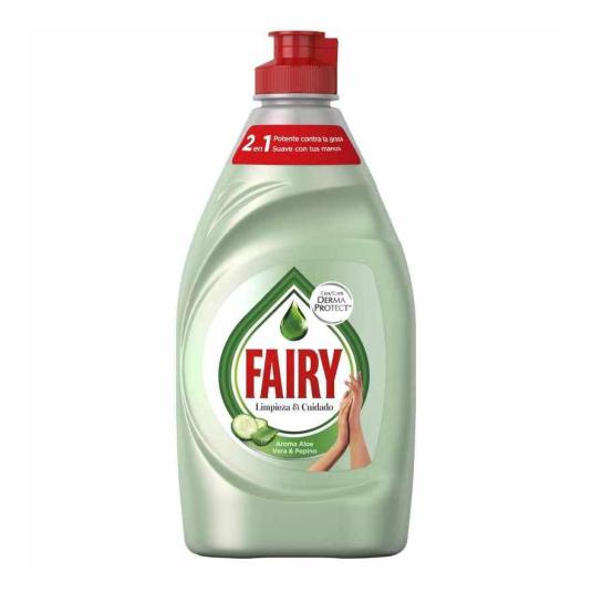 fairy lavavajillas mano aloe vera y pepino 340ml