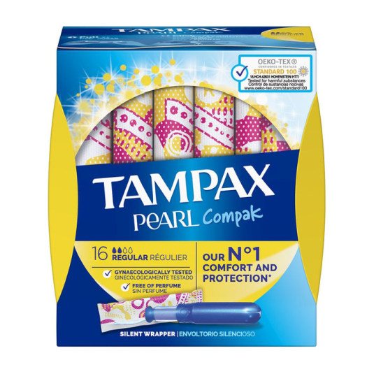 tampax compak pearl regular 16 unidades