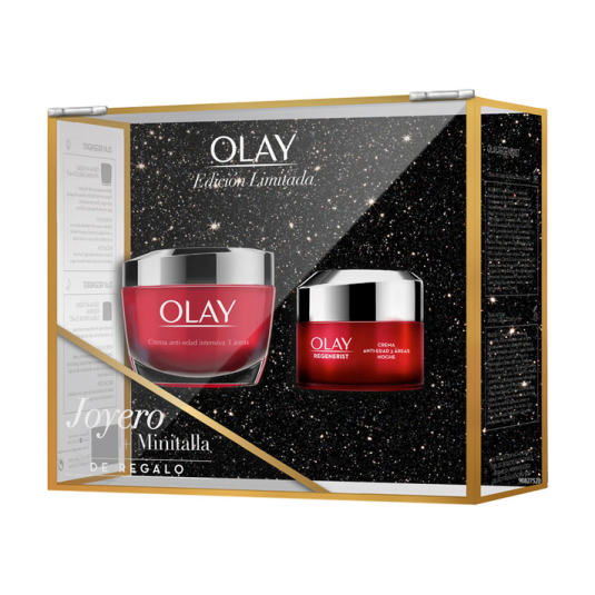 olay regenerist anti-edad intensiva crema dia 50ml+3 areas crema noche 15ml+joyero set