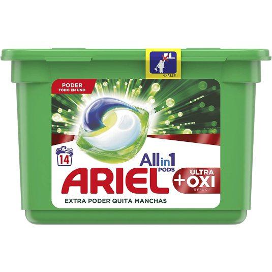 ariel detergente capsulas allin1 ultra oxy effect 14 unidades