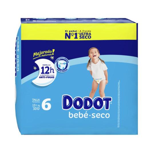 dodot pañal bebe-seco talla 6 (17-28 kg) 30 unidades