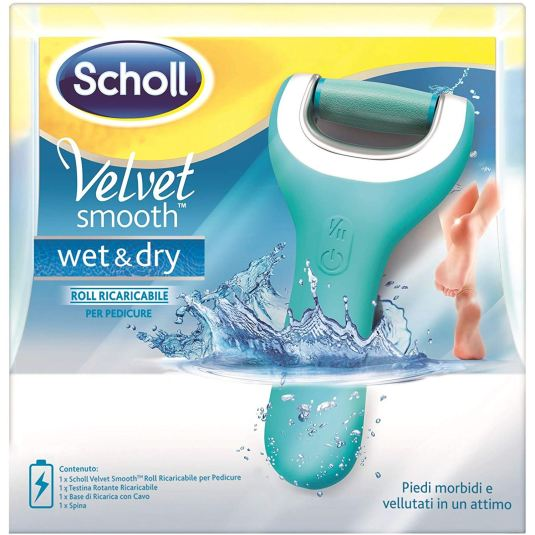 scholl velvet smooth wet & dry lima electronica recargable para pies