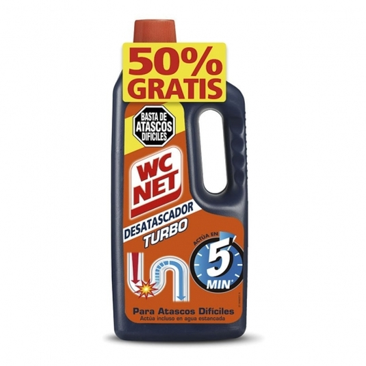 wc-net desatascador turbo 500+500ml gratis