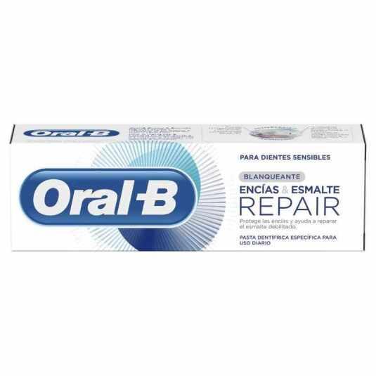 oral b encias y esmalte repair pasta de dientes blanqueante 75ml